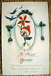 A Merry Christmas Postcard w/Merry Christmas (Embossed)