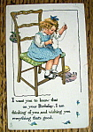 Birthday Children Postcard By Tuck with Girl Sitting