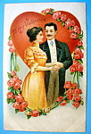 To My Valentine Postcard with Man & Woman Hugging