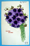 Valentine's Greeting Postcard with Bouquet of Flowers