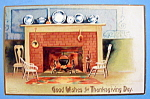 Click here to enlarge image and see more about item 10864: Good Wishes For Thanksgiving Day Postcard