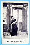 Click here to enlarge image and see more about item 10869: Singing Lady Postcard