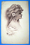 Click here to enlarge image and see more about item 10884: Beautiful Woman Postcard (Side View Of Lovely Woman)