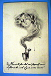 Click here to enlarge image and see more about item 10885: Beautiful Woman Postcard (Nicotine Dreams)