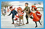 Click to view larger image of Merry Winter Postcard By Tuck's (Image1)
