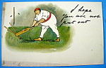 Click to view larger image of Baseball Postcard By Tuck's (Image1)