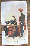 Click here to enlarge image and see more about item 10933: Spain Man & Woman (Singer Trade Card) Columbian Expo