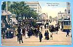 Click to view larger image of D Street & Plaza, San Diego, Cal. Postcard (Image1)