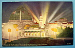 Click here to enlarge image and see more about item 10950: Palace of Horticulture Illuminated Postcard