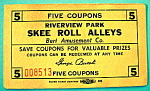 Click here to enlarge image and see more about item 10975: Riverview Park Coupon - Skee Roll Alleys