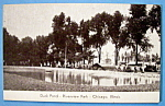 Click here to enlarge image and see more about item 10976: Duck Pond - Riverview Park Picture Postcard