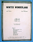 Sheet Music For 1934 Winter Wonderland By Felix Bernard