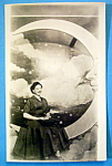 Riverview Park Woman On Moon Picture Postcard