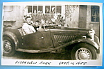 Riverview Park Man & A Boy In A Car Picture Postcard