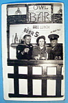 Click here to enlarge image and see more about item 11005: Picture Postcard Of Two Soldiers In Bar Scene-San Diego