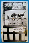 Click to view larger image of Two Soldiers In Bar Scene Picture Postcard (San Diego) (Image1)