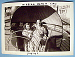 Click here to enlarge image and see more about item 11013: Photograph Of Woman & Girl On A Tilt A Whirl