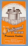 1933 Century Of Progress, Nat Pressure Cooker Brochure