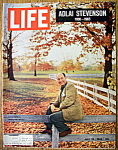 Click to view larger image of Life Magazine-July 23, 1965-Adlai Stevenson (Image1)