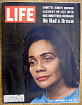 Click to view larger image of Life Magazine - September 12, 1969  - Coretta King (Image1)