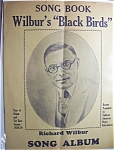 Sheet Music For 1928-29 Song Book Wilbur's Black Birds