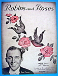 Sheet Music For 1936 Robins And Roses (Bing Crosby)