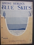 1927 Irving Berlin's Blue Skies Sheet Music