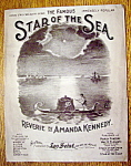 Sheet Music for 1910 Star Of The Sea