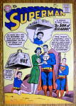 Click here to enlarge image and see more about item 12596: Superman Comic Cover-October 1960-Superman & Lois Lane