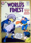 Click to view larger image of World's Finest Comic Cover-August 1958-Batman/Superman (Image1)