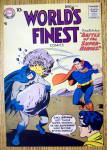Click to view larger image of World's Finest Comic Cover-August 1958-Batman/Superman (Image2)