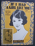Sheet Music For 1925 If I Had A Girl Like You