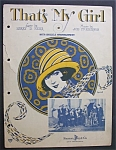 Sheet Music For 1924 That's My Girl