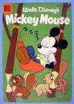 Mickey Mouse Comic Cover#48 1956 Mickey Mouse Sleeping