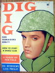 Click here to enlarge image and see more about item 12912: Dig Magazine (Cover Only)-May 1958-Elvis Presley