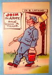 Soldier Walking With Bucket Postcard