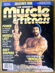 Click to view larger image of Muscle & Fitness Magazine-March 1983-Lou Ferrigno (Image1)