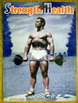 Click here to enlarge image and see more about item 13777: John C Grimek-1941 Strength & Health Magazine Cover