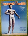 Click here to enlarge image and see more about item 13782: Walter Baptiste 1941 Strength & Health Magazine Cover