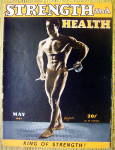 Click here to enlarge image and see more about item 13784: Pete Jacobs 1947 Strength & Health Magazine Cover