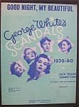 Sheet Music For 1939 Good Night, My Beautiful
