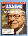 Click here to enlarge image and see more about item 14626: U.S. News & World Magazine August 6, 2007 Buffett Way