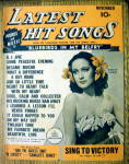 Latest Hit Songs November 1944 Dorthy Lamour Cover