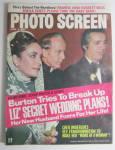 Click to view larger image of Photo Screen Magazine January 1974 Liz' Secret Wedding  (Image1)