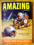 Click here to enlarge image and see more about item 15012: Amazing Stories Magazine January 1955 Plague Planet