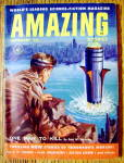 Click here to enlarge image and see more about item 15015: Amazing Stories Magazine September 1955 One Man To Kill