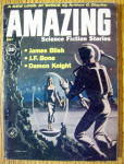 Click here to enlarge image and see more about item 15028: Amazing Stories Magazine July 1960 A New Look At Space