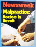 Newsweek Magazine-June 9, 1975-Malpractice & Doctors