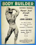Click here to enlarge image and see more about item 15267: Body Builder Souvenir Program March 1951 John Grimek