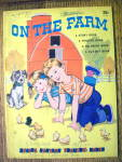 On The Farm Tracing & Coloring Book 1959